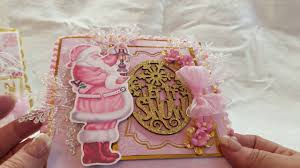 Pink Christmas Card Pink Christmas Cake And Pink Santa Christmas Cards Youtube