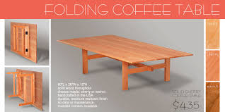 Decor Of Foldable Coffee Table Wooden Folding Collapsible Amp Live Edge  Furniture Made In Vt