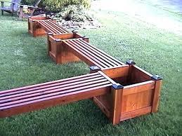bench planter box plans beam via wooden and set