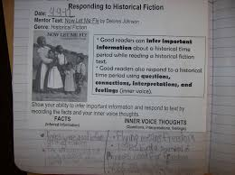 Historical Fiction Anchor Chart Life In 4b Main Ideas Poetry Responding To