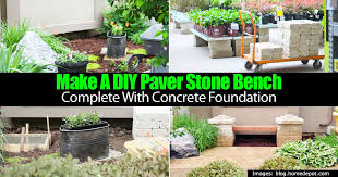 make a diy paver stone bench complete with concrete foundation
