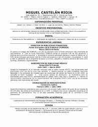 spanish resume examples