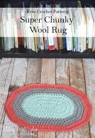 free crochet pattern super chunky wool rug make this pretty and squishy wool rug