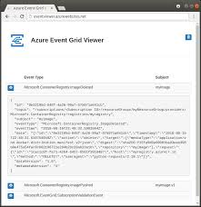 Program Of Events Sample Quickstart Send Azure Container Registry Events To Event Grid