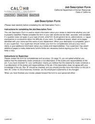Work Description Form Job Description Form Fill Out And Sign Printable Pdf