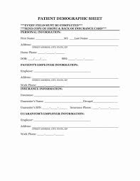 Demographic Form Template Images Of Client Bfegy Com Sample