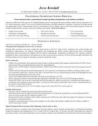 Elementary School Principal Resume Objective Professional User