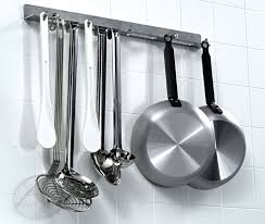 picture of kitchen utensils hanging rail