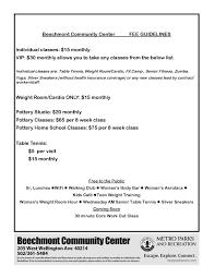 beechmont munity center fee rates event calendar louisville