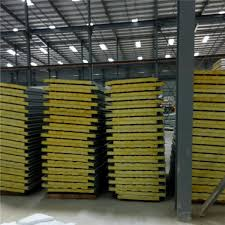 corrugated ivory white color steel sheet glass wool sandwich panel 5950 x 960 x images