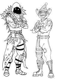 Kleurplaat Fortnite Peekaboo Outfit En Nevermore Soldier 2