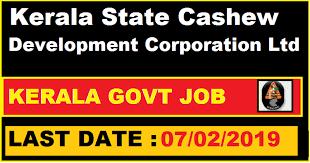 kerala state cashew development corporation ltd recruitment for