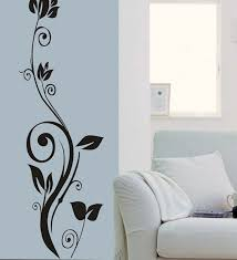 Vinyl Model Simple Wall Art Natural Concept Wild Plants Growing Beauitful  Shape All White Luxurious Interior