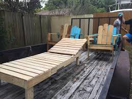 outdoor pallet deck furniture. Recycled Pallet Lounge Chair Outdoor Deck Furniture