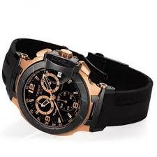 tissot t race chronograph rose gold tone black rubber mens watch