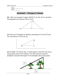 pythagorean theorem worksheet answers word pdf pythagorean theorem word problems worksheet