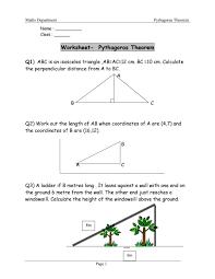 48 pythagorean theorem worksheet answers word pdf pythagorean theorem word problems worksheet