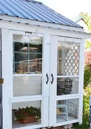 diy old door greenhouse