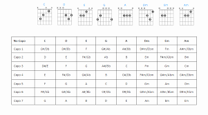 12 Efficient Transposition Chart For Capo
