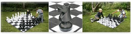 garden chess set. A Giant Garden Chess Set D
