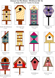 Birdhouse Patterns Mesmerizing Cheeper By The Dozen 48 Birdhouses For Paper Piecing