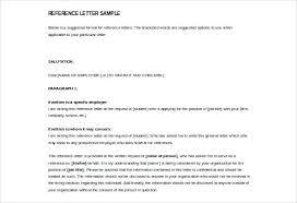 Letter For References Sample For Reference Letter References Letter Template Sample