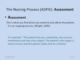 Adpie Charting Sample The Nursing Process Care Planning Michele Archdale Ppt