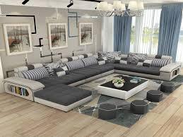 luxury living room furniture. Living Room Sofa Sets New Luxury Furniture Modern U Shaped Fabric Corner