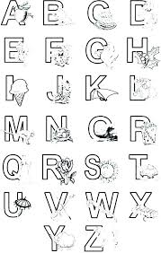 Alphabet Coloring Pages Printable Letter Coloring Pages Free Letter