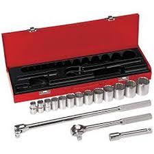 Socket Wrench <b>Set</b>, <b>1/2</b>-Inch Drive, 16-Piece Klein Tools 65512 ...