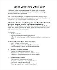 Outline Essay Examples Sample Of Ntative Essay Example Outline