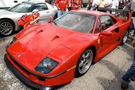 The f40 was built to celebrate ferrari's 40th anniversary. File Ferrari F40 In Ims Parking Lot Jpg Wikimedia Commons