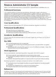 qualifications in cv example finance administrator cv sample myperfectcv