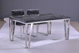 Image of: Elegant Stainless Steel Table Legs