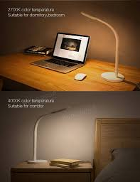 original xiaomi yeelight 3w 5w 60 led touch dimmable desk lamp smart table light for