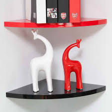 corner shelf wall mount with decorative sculpture