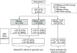Flow Chart Of Patients By Hepatitis B E Antigen Hbeag