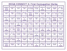 Latin Verb Conjugation Chart Latin First Conjugations Worksheets Teaching Resources Tpt