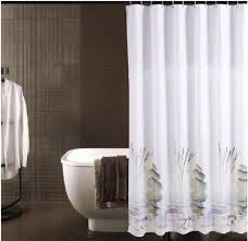 grey gray white shower curtain extra long hookless shower hookless shower curtain extra long