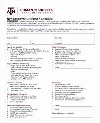 Staff Orientation Checklist New Employee Onboarding Checklist Template Luxury Sample New Staff