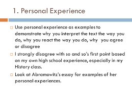 summary response essay ppt video online personal experience