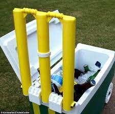 Cricket Cooler Esky Doubles Up As A Beach Cricket Set  Daily Mail Backyard Cricket Set