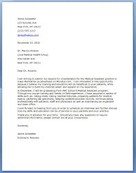 Cover Letter For Medical Assistant Gplusnick Samples Jobs Sample