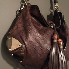 gucci bags brown. gucci bags - brown leather monogram bag.