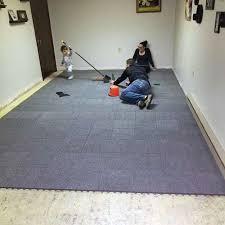 carpet tiles basement. Exellent Carpet Floating Basement Floor Carpet Tiles To R
