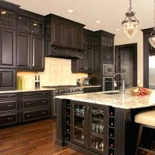 dark stain colors for kitchen cabinets best color stained image