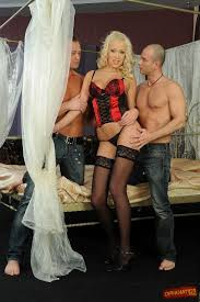 Teena Lipoldino Wearing Stockings Enjoying Double Penetration.