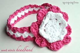 Crochet Flower Pattern For Headband Interesting 48 Quick And Easy Crochet Flower Headband Patterns
