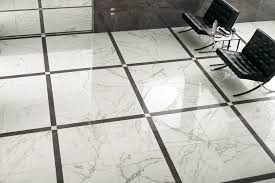 Marble flooring in cube pattern.