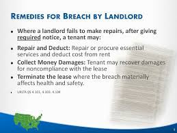Notice To Tenant To Make Repairs Understand Landlord Tenant Laws And Issues Ppt Download